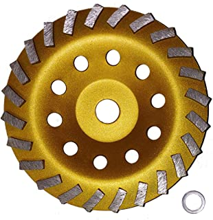 """7"""" Concrete Turbo Diamond Grinding Cup Wheel for Angle Grinder 24 Segs"""