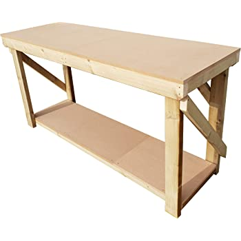 Perfect Potting Table! Workbench MC Timber Products New 2ft Long 18mm Plywood Top Heavy Duty Workbench Water Resistant and Pressure Treated
