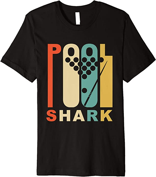 Vintage 1970 s style pool shark retro billiards t shirt for Pool design 1970