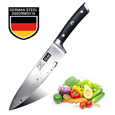 Chef Knife,SHAN ZU Pro Kitchen Knife 8 Inch Hig...