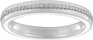 ceranity 女式戒指925纯银锆石–1–12陶瓷 / 0011-b