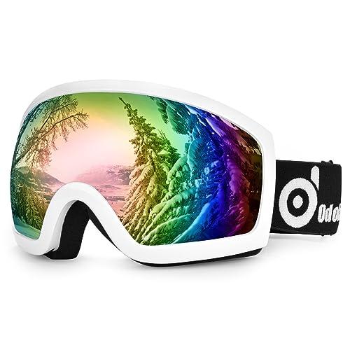 cd969fa1098b72 Odoland Lunettes de Ski Masque de Snowboard pour Homme   Femme Anti-UV400,  Anti