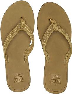 REEF Women's Voyage Lite Leather Sandal, Tobacco, 6
