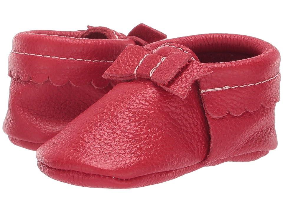Freshly Picked Soft Sole Bow Moccasins (Infant/Toddler) (Santa) Kids Shoes
