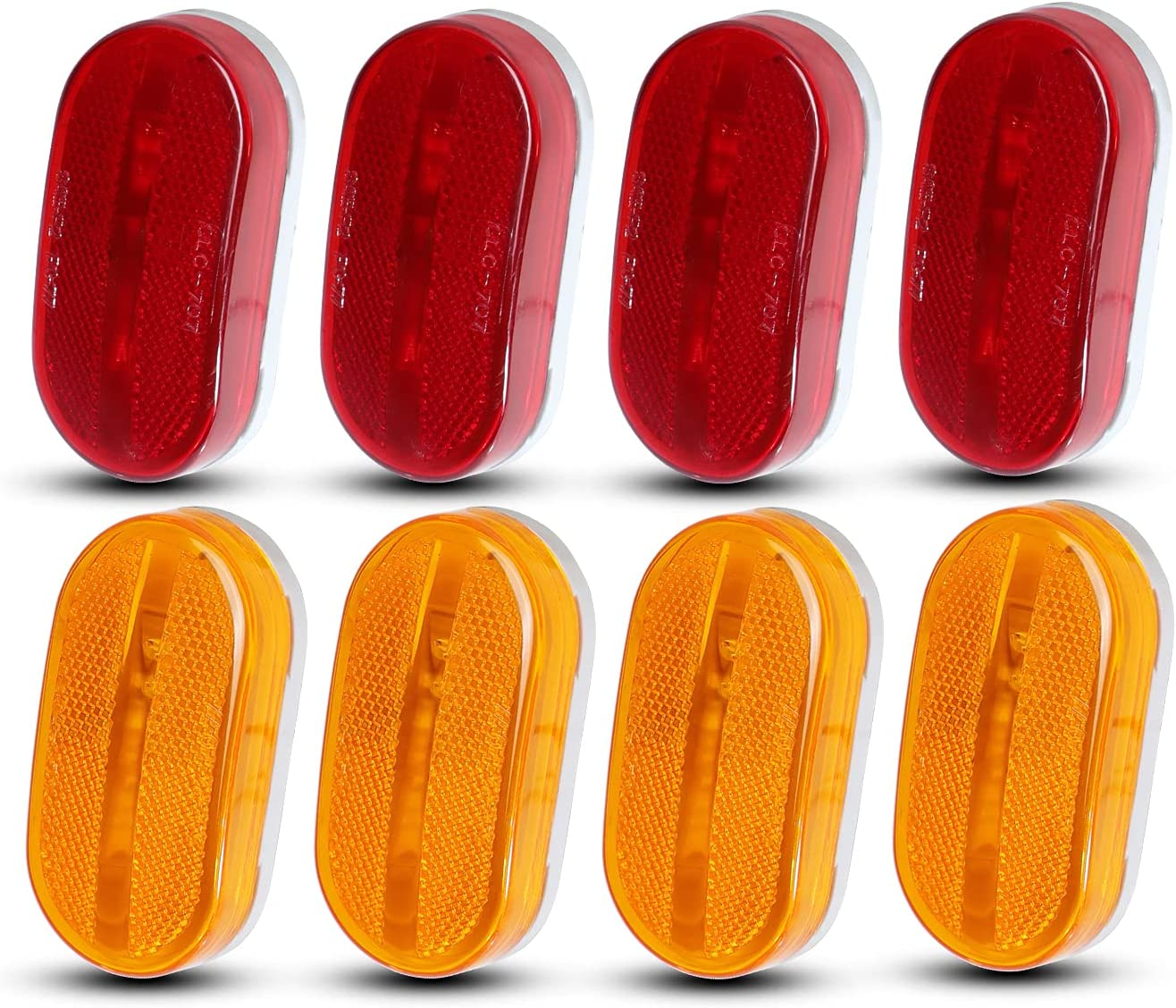 Meerkatt Pack of 8 Oblong 4 Great LED Red Amber Max 62% Max 74% OFF OFF Replacemen +