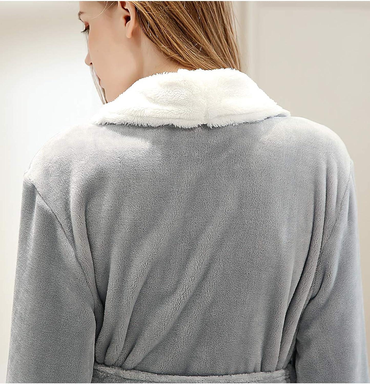 ZAKASA Accappatoi da Donna Pile di Flanella Lunga Vestaglia Donna per Invernale Natale Caldo e Morbido M L XL