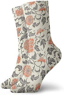 tyui7, Calcetines de compresión florales decorativos chinos de flores vintage calcetines de compresión antideslizantes calcetines deportivos de 30 cm para hombres, mujeres y niños