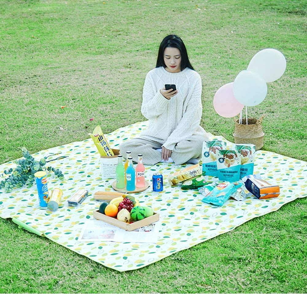 Suitable for Camping JIYQINLY Outdoor Blanket Picnic with Waterproof Backing Outdoor Festivals Beach 31x57 inch