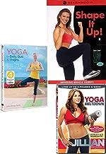 Beachbody Slim Series Opposing Muscle Groups Shape it up + Yoga Meltdown Jillian Michaels & Tone for Belly, Butt & Thighs flatter abs, slimmer hips 3 DVD set