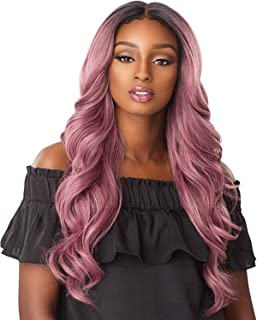 Sensationnel Synthetic Lace Front Wig Empress Edge 3-Way Free Part Lace Wig Jocelyn (T1B/DARKTEAL)