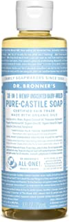 Dr. Bronner's Pure-Castile Liquid Soap – Baby Unscented - 8 Ounce
