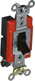 Leviton 1221-2 20-Amp, 120/277-Volt, Toggle Single-Pole AC Quiet Switch, Extra Heavy Duty Spec Grade, Self Grounding, Brown