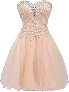 Short Homecoming Dress Cocktail Dresses Lace Party Dress Strapless Prom Dress Sweetheart Homecoming Dresses Ball Gown