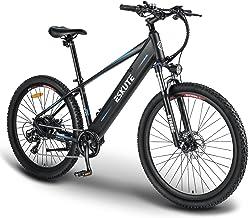 """ESKUTE E-bike MTB Elektrische Fiets Mountainbike Voyager 27.5"""" met 48V 10Ah Lithium Batterij, Volwassen Elektrische Fiets ..."""
