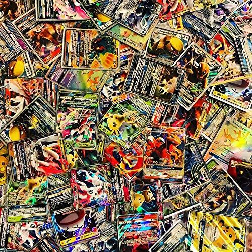 100 Pokemon Karten - 1 GX oder EX GARANTIERT - Deutsch - Boosterfrisch - WRD Trading Cards