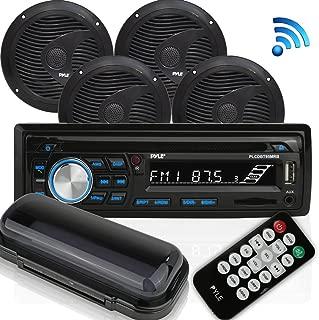 Wireless Bluetooth Marine Audio Stereo - Kit w/Single DIN Universal Size Radio Receiver, Hands-Free Calling, 6.5