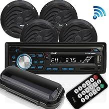 Wireless Bluetooth Marine Audio Stereo – Kit w/Single DIN Universal Size Radio..
