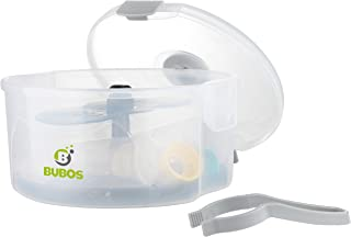 Bubos Microwave Steam Sterilizer - Kills 99.9% Bacteria and Germs, Lightweight and Quick Sterilization for Baby Bottles, Breast Pumps, Teethers & Cups - BPA Free