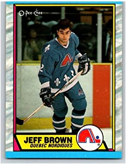 1989-90 O-Pee-Chee #28 Jeff Brown Quebec Nordiques NHL Hockey Card NM-MT