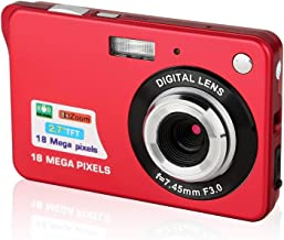 Digital Camera,2.7 Inch HD Camera for Backpacking Rechargeable Mini Camera Students Cameras Pocket Cameras Digital with Zoom Compact Cameras for Photography