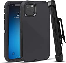 """iPhone 11 Pro 5.8"""" Defender Case by KJR, Rugged Belt Clip Holster Heavy Duty Kickstand Protective Cover [Dust-Proof] [Shockproof] Hard PC"""
