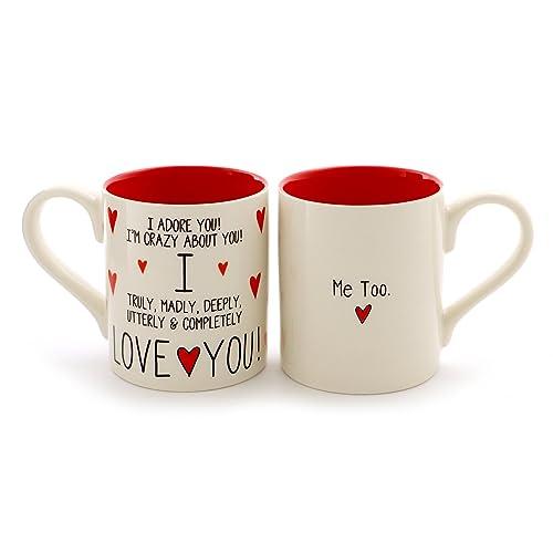 """3f394061f03 Enesco 6000504 Our Name Is Mud """"I Love You, Me Too"""" Stoneware Mug"""
