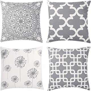 Percy Wind Set of 4 Throw Pillow Covers Modern Decoration Pillow Case Cushion Cover for Bedroom Sofa Car Home Decor Geomet...