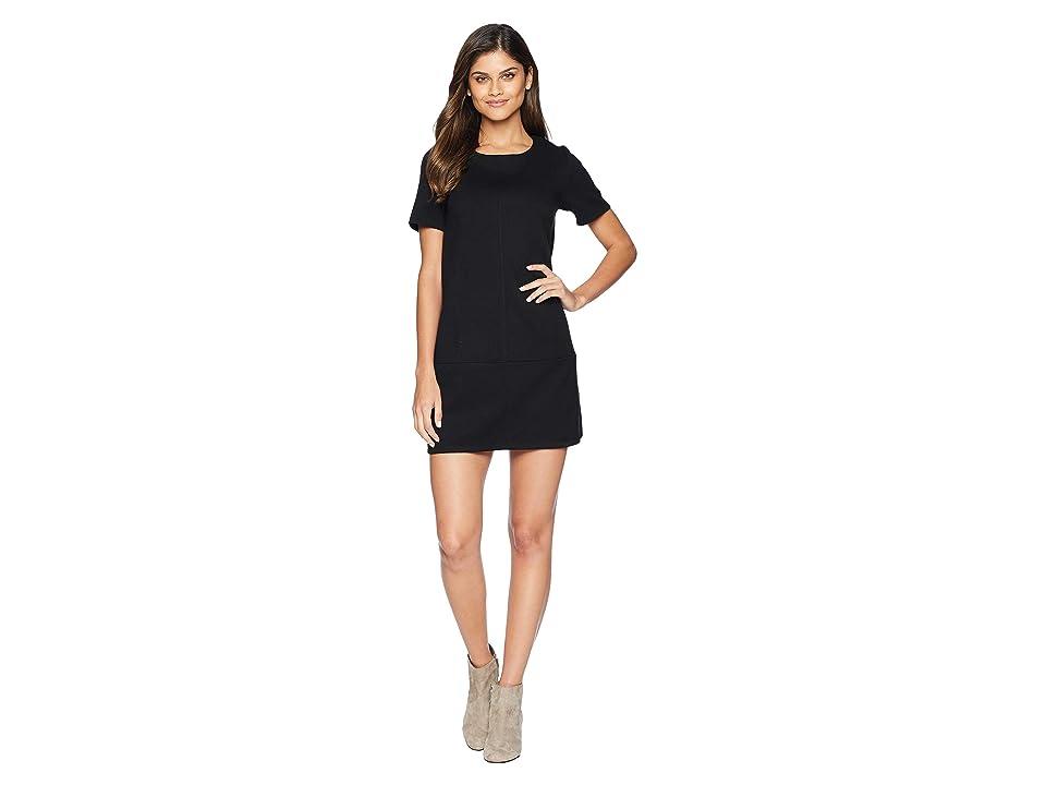 Bishop + Young Super Suede Shift Dress (Black) Women