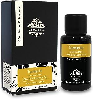 Turmeric Essential Oil or Curcumin Oil (Curcuma longa) - Aroma Tierra - 100% Pure & Natural - 30ml