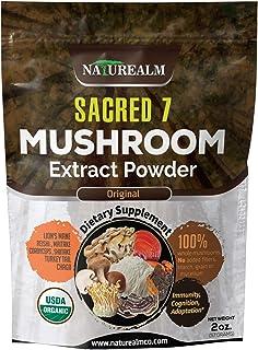 Sponsored Ad - Sacred 7 Mushroom Extract Powder - USDA Organic - Lion's Mane, Reishi, Cordyceps, Maitake, Shiitake, Turkey...