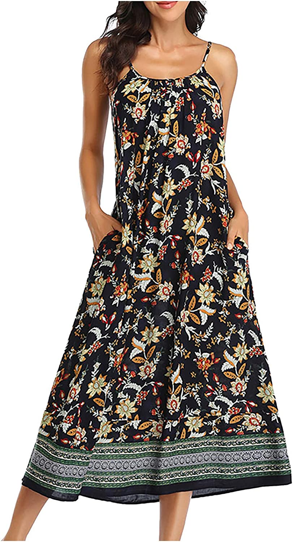 Gwewei4df Women's Summer Fashion Sleeveles Printing Casual Beach National uniform Mail order free shipping