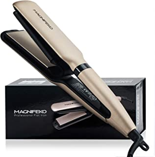 Magnifeko tourmaline Ceramic Ionic Flat Iron Hair Straightener Dual Voltage with Digital led Display