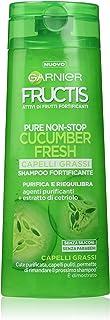 Garnier Fructis - Shampoo Fortificante Capelli Grassi - Purifica E Riequilibra Il Cuoio Capelluto - 250Ml - [pacco da 4]