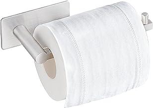 Aikzik Toiletpapierhouder zonder boren, zelfklevende toiletpapierrolhouder, roestvrij staal, wc-houder, rolhouder, toileth...