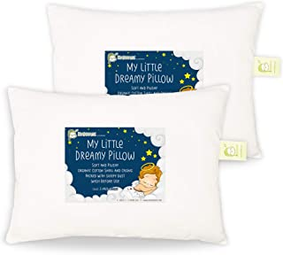 """Pillowcase for Toddler Pillow 2 Pack - Fits 18""""x13"""" Soft Cotton Pillowcases for Baby, Newborn, Infant and Toddlers - Pillo..."""
