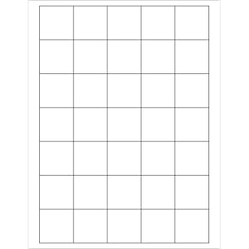 White Pack of 3500 Rectangle 1 1//2 x 1 1//2 Tape Logic LL108 Laser Labels