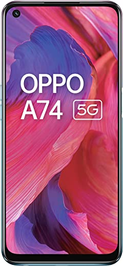 OPPO A74 5G (Fluid Black,6GB RAM,128GB Storage) Android Smartphone,5000 mAh battery,18W Fast Charge,90Hz LCD Display