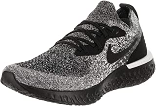 Nike Women's Epic React Flyknit Running Shoes (7, Black/Black/White)