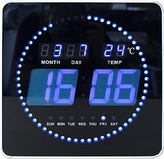 Unilux 400124566 Pendule, Noir et Bleu, 28 x 28cm