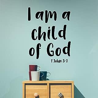 Vinyl Wall Art Decal - I Am A Child of God 1 John 3:1-30