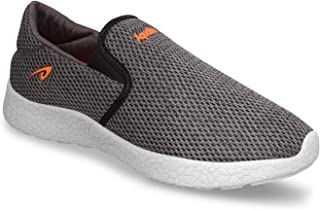 Aqualite Men's Synthetic Leather Grey Orange Sports Shoes