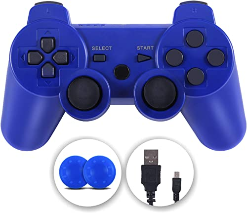 PS3 Controller, Wireless Controller Double Vibration Gamepad Compatible with Playstation 3, Controller with Charging ...