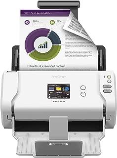 Brother Printer RADS2700W Renewed RADS2700W- (ADS-2700w) Wireless Space-Saving High-Speed Color Duplex Desktop Document Scanner, White