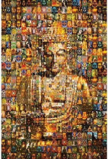 Mosaic Art Jigsaw Puzzle - Buddha 1000 Pieces 30x20 inch for Adults Kids Every Fit Together Perfectly,Wooden Unique Toy Gi...