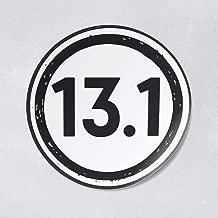 Nudge Printing 13.1 Miles Half Marathon Runner Car Window Laptop Decal Bumper Sticker