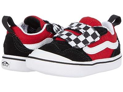 Vans Kids ComfyCush New Skool V (Infant/Toddler) ((Checkerboard) Black/Red) Boy