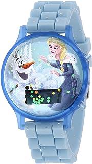 ساعة معصم بتصميم عائم لفتيات فيلم ديزني فروزن بسوار سيليكون، رقمية مع ضوء وامض -  SA8570 Frozen-B