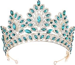 SuDeLLong Diademi della Corona Gioielli della Corona di Strass Nuziale Tiara Principessa Tiara for Le Donne Concorso di Be...