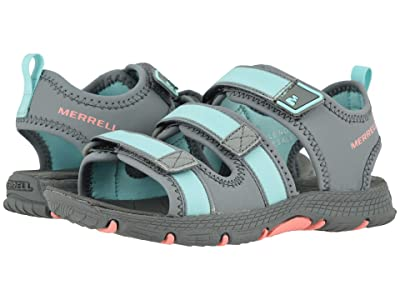 Merrell Kids Hydro Creek (Toddler/Little Kid/Big Kid) (Grey/Turquoise) Girl