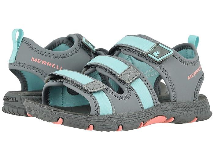 Merrell Kids  Hydro Creek (Toddler/Little Kid/Big Kid) (Grey/Turquoise) Girls Shoes